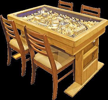 ジオラマ収納テーブル 4人掛けサイズ