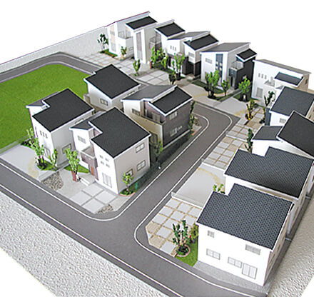 分譲地模型