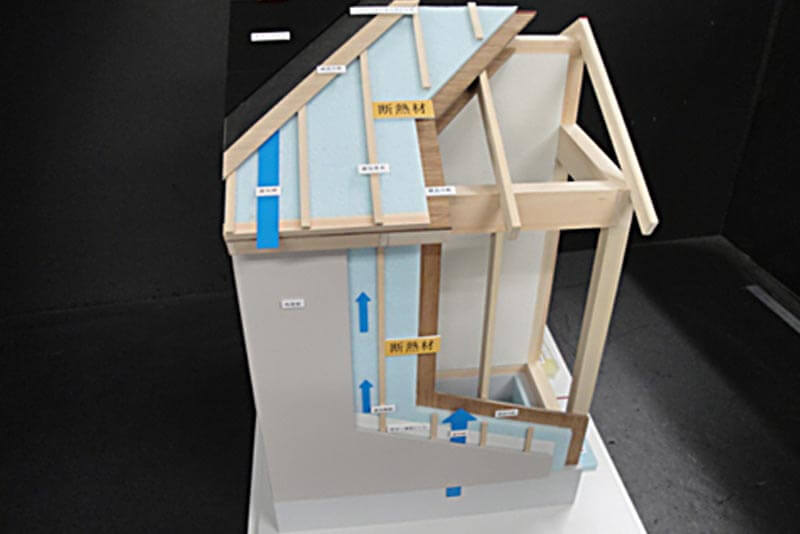 09 外断熱・内断熱工法比較模型