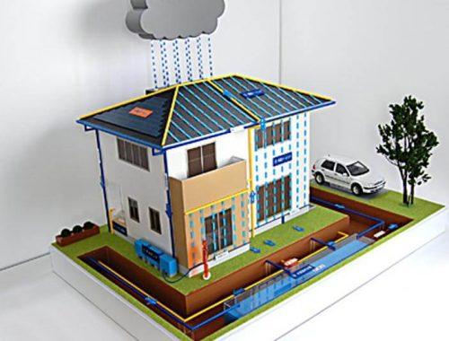 14 雨水利用住宅模型