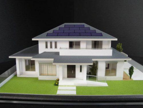 18 住宅模型_カラー