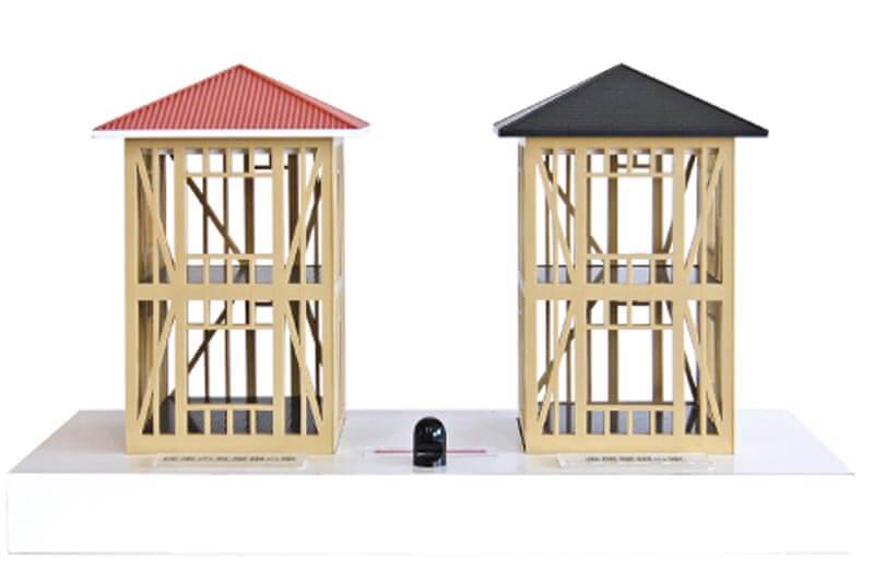 23 屋根重量による振動比較模型