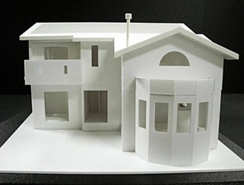33 住宅模型_ホワイト(スタディ模型)