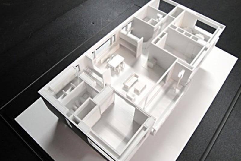 37 住宅模型_ホワイト(スタディ模型)