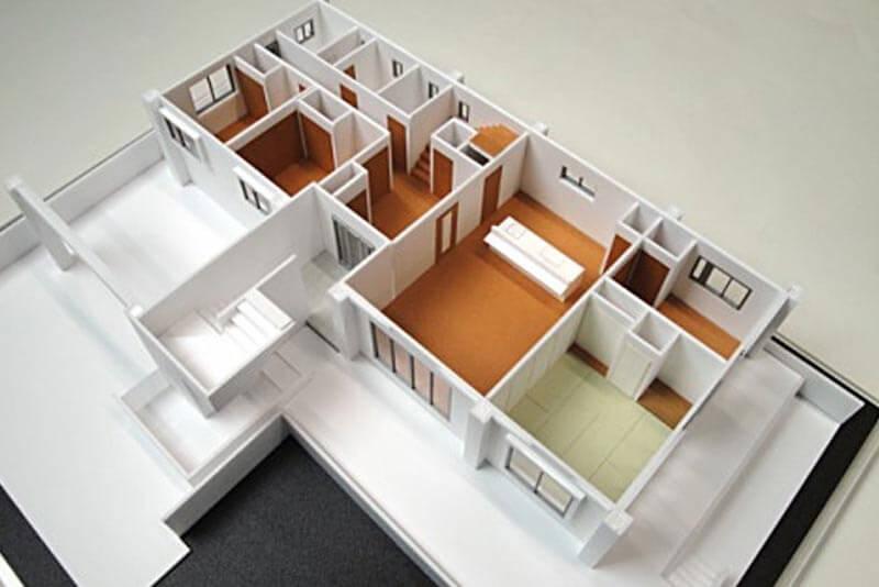 39 住宅模型_ホワイト
