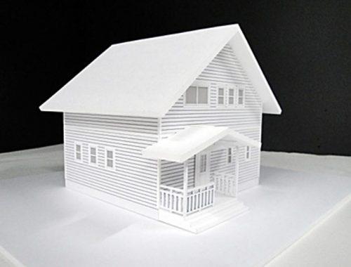 41 住宅模型_ホワイト(スタディ模型)