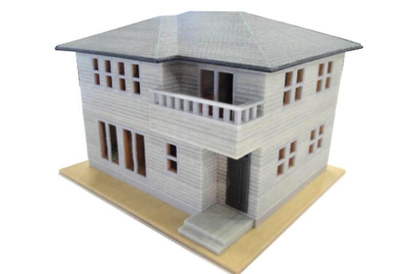 44 3Dプリント住宅模型