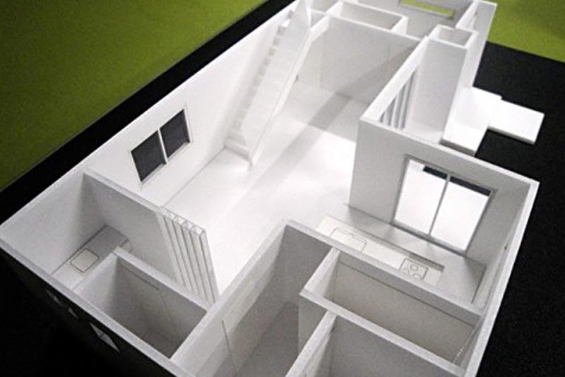 45 住宅模型_ホワイト(スタディ模型)