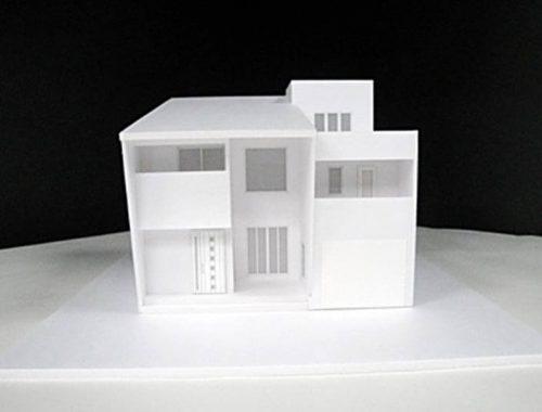 51 住宅模型_白(スタディ模型)