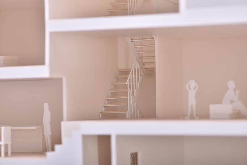 53 住宅縦割りカット模型